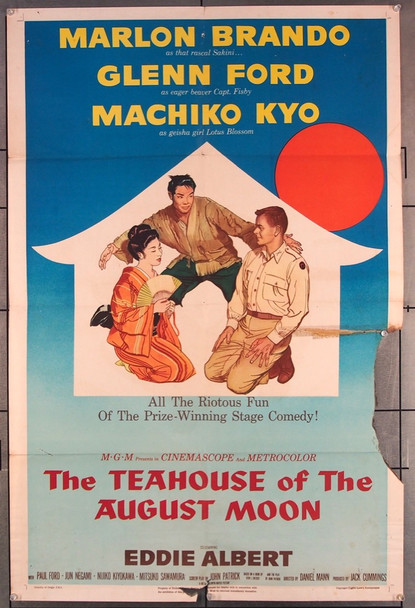 TEAHOUSE OF THE AUGUST MOON (1956) 27550 MGM Original U.S. One-Sheet Poster (27x41) Folded  Fair Condition