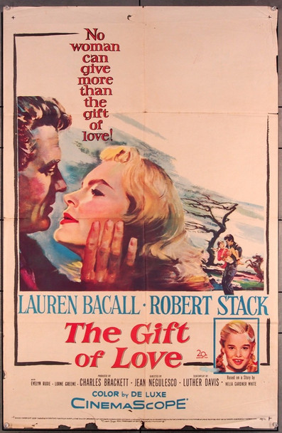 GIFT OF LOVE, THE (1958) 27541 20th Century Fox Original One-Sheet Poster (27x41) Folded  Good Condition