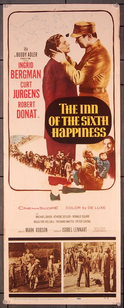 INN OF THE SIXTH HAPPINESS, THE (1959) 27536 20th Century Fox Original Insert Poster (14x36) Folded  Very Good Condition