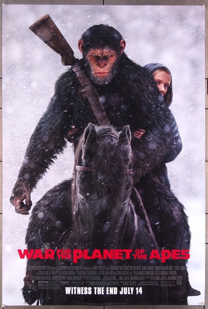 WAR FOR THE PLANET OF THE APES (2017) 27496 20th Century Fox Original One-Sheet Poster (27x40) Rolled  Double Sided
