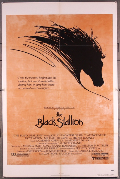 BLACK STALLION, THE (1979) 27121 Original United Artists One-Sheet Poster (27x41) Very Fine Condition