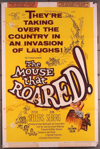 MOUSE THAT ROARED, THE (1959) 27548 Columbia Pictures Original One-Sheet Poster (27x41) Folded Fair Condition Only  SHARPSTOWN HOUSTON TEXAS SCREENING