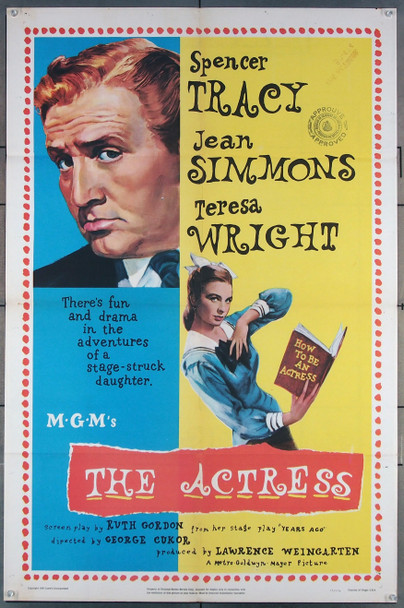 ACTRESS, THE (1953) 27614 MGM Original One-Sheet Poster (27x41) Folded  Fine Plus Condition
