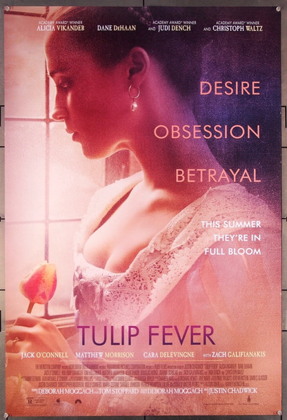 TULIP FEVER (2017) 27495 U.S. Original One-Sheet Poster (27x40)  Rolled  Double-Sided  Very Fine Condition