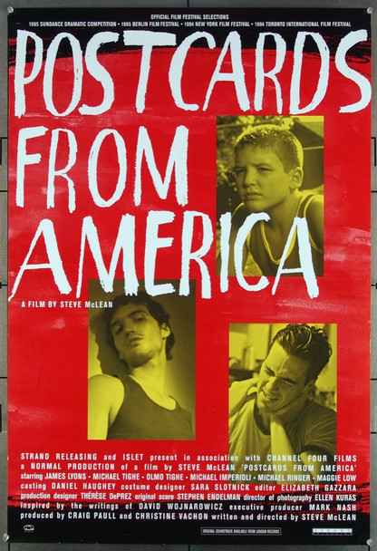 POSTCARDS FROM AMERICA (1994) 26427 Original Strand Releasing One Sheet Poster (27x41).  Folded.  Very Fine.