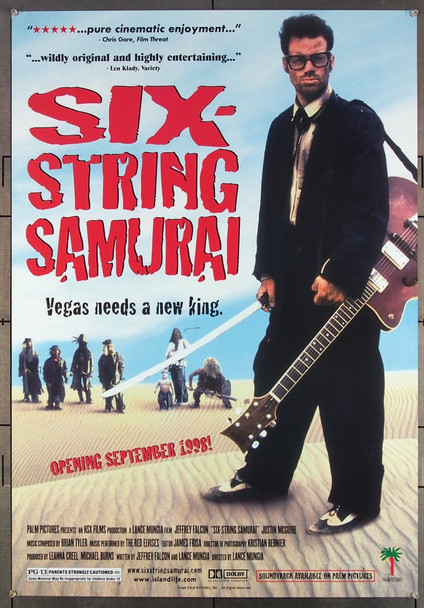 SIX-STRING SAMURAI (1998) 26432 Original Palm Pictures One Sheet Poster (27x39).  Folded.  Very Fine.