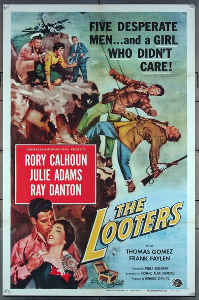 LOOTERS, THE (1955) 27623 Universal Pictures Original One-Sheet Poster (27x41) Folded  Very Fine Condition