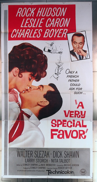 VERY SPECIAL FAVOR, A (1965) 10775 Universal Pictures Original Three-Sheet Poster (41x81) Very Fine Condition  Folded