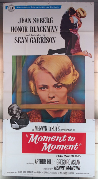 MOMENT TO MOMENT (1965) 10776 Universal Pictures Original Three Sheet Poster (41x81) Folded  Good Condition