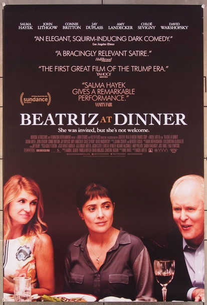 BEATRIZ AT DINNER (2017) 27080 Original FilmNation Entertainment One Sheet Poster (27x41).  Rolled   Very Fine.