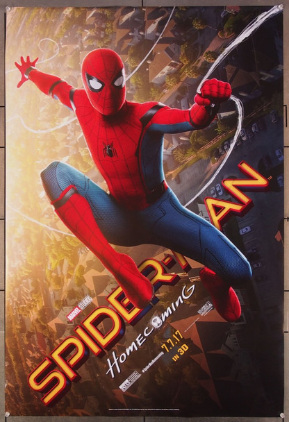 SPIDER-MAN: HOMECOMING (2017) 27090 Original Columbia Pictures Advance 3-D One Sheet Poster (27x41).  Rolled  Very Fine.