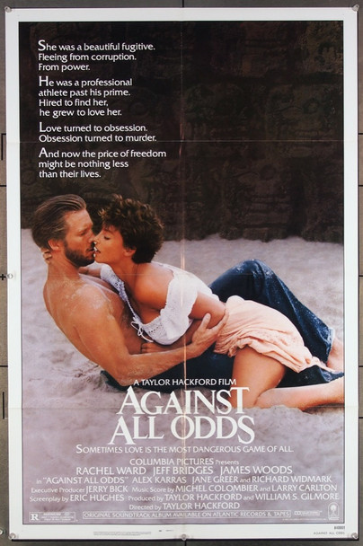AGAINST ALL ODDS (1984) 27102 Original Columbia Pictures One Sheet Poster (27x41).  Folded.  Very Fine.