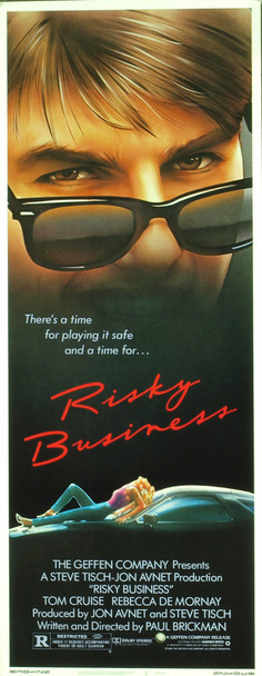 RISKY BUSINESS (1983) 1001 Original Warner Brothers Insert Poster (14x36).  Rolled.  Very Fine Condition.