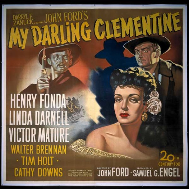 MY DARLING CLEMENTINE (1946) 14902 Original 20th Century Fox Six Sheet Poster (81x81). Stone Lithograph. Linen-Backed. Near Mint Condition.