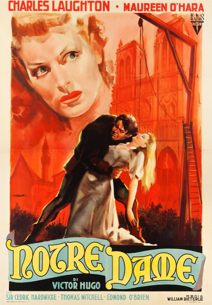 HUNCHBACK OF NOTRE DAME, THE (1939) 24612 First Post-War Italian Release  79x55  Linen backed.