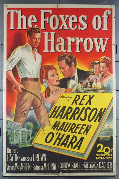 FOXES OF HARROW, THE (1947) 2363 20th Century Fox Original One-Sheet Poster (27x41) Folded  Fair Condition Only