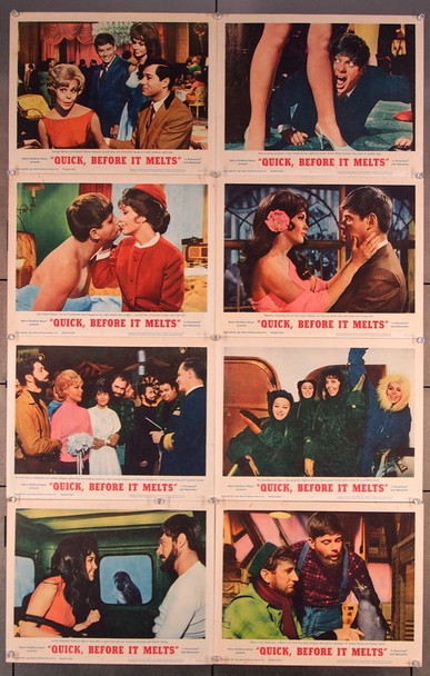 QUICK, BEFORE IT MELTS (1964) 16696 MGM Original U.S. Lobby Card Set (11x14) Eight Cards  Fine Plus to Very Fine Condition