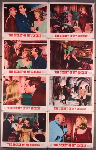 SECRET OF MY SUCCESS, THE (1965) 16698 MGM Original U.S. Set of Eight Lobby Cards  11x14  Fine Plus to Very Fine Condition