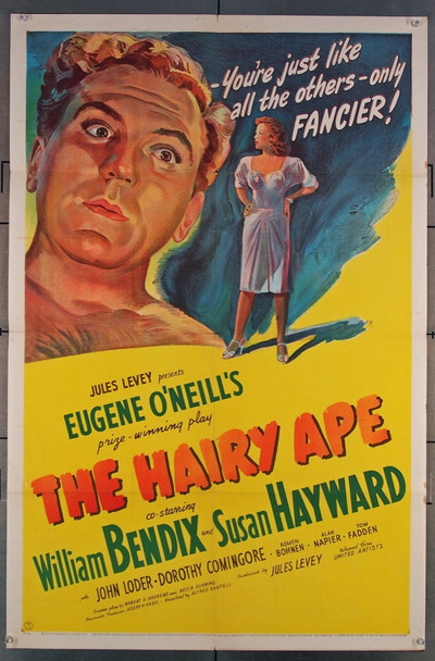HAIRY APE, THE (1944) 2346 United Artists Original One-Sheet Poster (27x41)  Folded  Fine Plus to Very Fine Condition