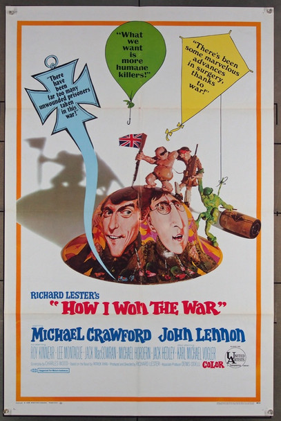 HOW I WON THE WAR (1968) 2340 United Artists Original One-Sheet Poster (27x41) Folded  Very Fine Condition