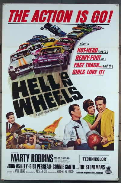 HELL ON WHEELS (1967) 2341 Crown Original One-Sheet Poster (27x41) Folded  Very Fine Condition