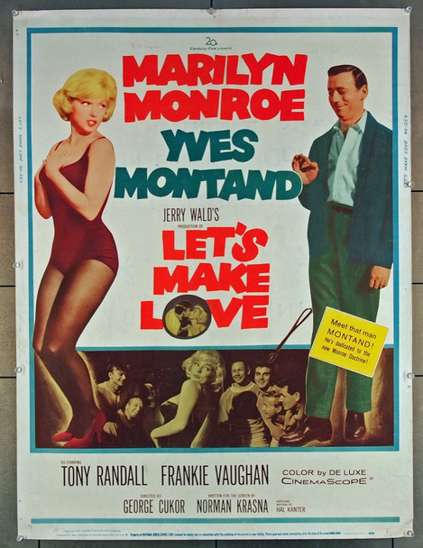 LET'S MAKE LOVE (1960) M27645 20th Century Fox Original 30x40 Poster  Rolled  Fine Plus Condition