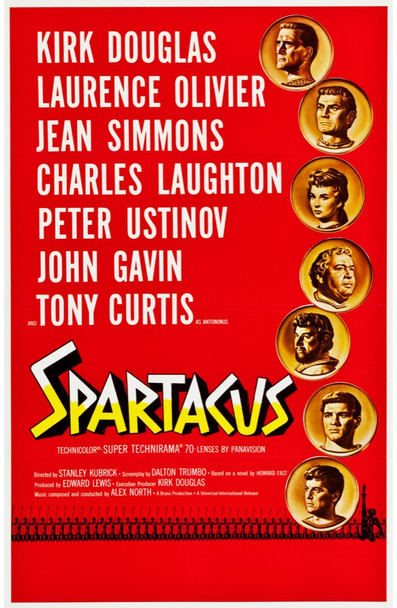 SPARTACUS (1960) 25284 Universal PIctures Original Roadshow One-Sheet Poster (27x41) Linen-Backed