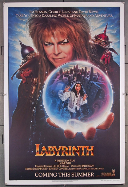 LABYRINTH (1986) 1700 Tri-Star Original Teaser One-Sheet Poster (27x41) Rolled  Very Fine Condition