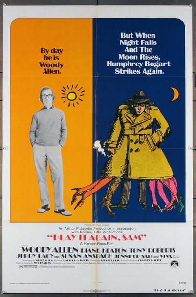PLAY IT AGAIN, SAM (1972) 27300 Paramount Pictures Original Re-release One Sheet Poster  (27x41) Folded  Very Fine