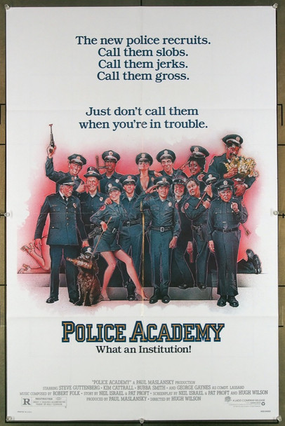 POLICE ACADEMY (1984) 27301 Warner Brothers Original One-Sheet Poster (27x41) Folded  Very Fine  Art by Drew Struzan