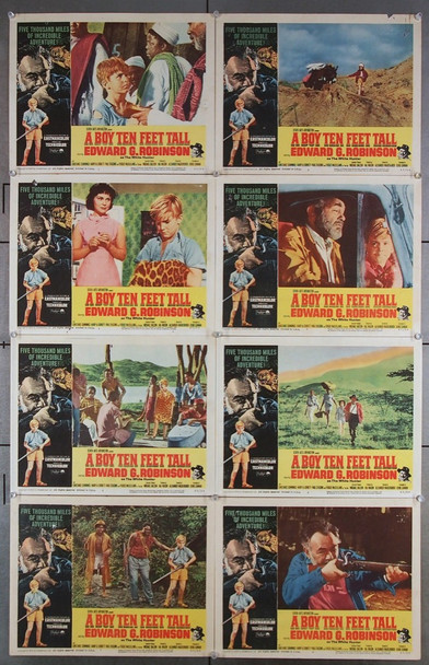 BOY TEN FEET TALL, A (1965) 16687 Paramount Pictures Original Lobby Card Set   Eight Individual 11x14 Cards  Very Good to Very Fine Condition