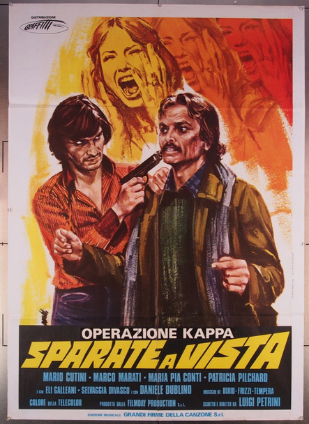 DAY OF VIOLENCE (1977) 27065  Italian title  OPERAZIONE KAPPA SPARATE A VISTA Filmday Productions Original Italian 39x55  Folded Fine Condition