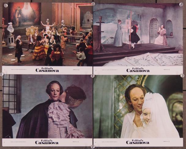 CASANOVA DI FEDERICO FELLINI, IL (1976) 7562 Titanus Original German Still set   Four 8x10 color stills  Very Fine Condition