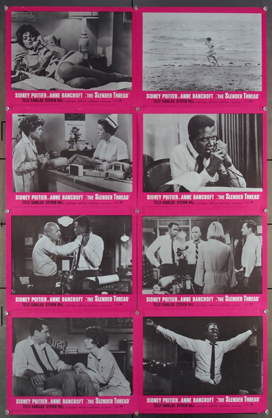 SLENDER THREAD, THE (1965) 16700 Paramount PIctures Original U.S. Lobby Card Set  Eight 11x14 Cards  Fine Plus Condition