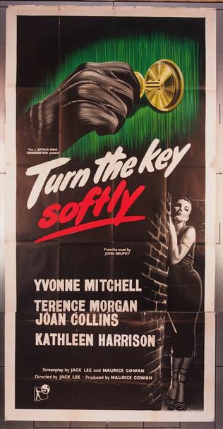 TURN THE KEY SOFTLY (1953) 6315 Rank British Three-Sheet Poster (40x78)  Very Good Plus to Fine Condition
