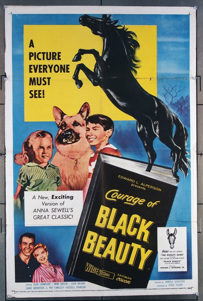 COURAGE OF BLACK BEAUTY (1957) 11322 Original U.S. One-Sheet Movie Poster (27x41)  Folded  Fine Condition