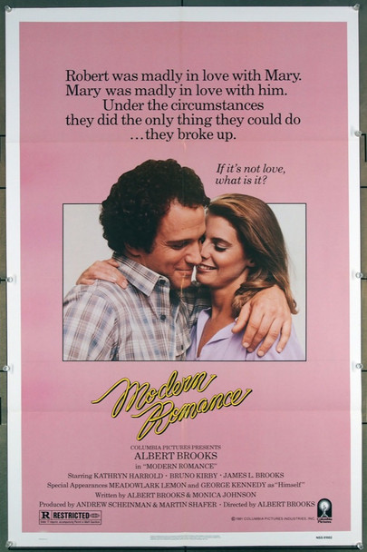 MODERN ROMANCE (1981) 1417 An original Columbia 1981 Release One Sheet Movie Poster (27x41) Directed by Albert Brooks