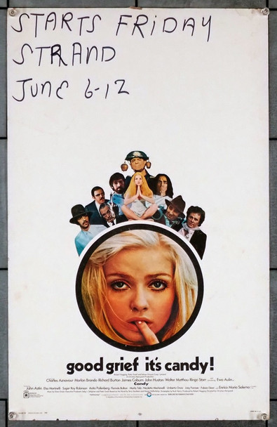 CANDY (1968) 9123 Cinerama Releasing Original Window Card Poster (14x22) Very Good Condition