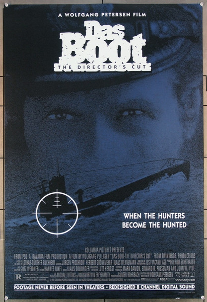 DAS BOOT (1981) 19591 Original (SDR) Re-release Director's Cut One Sheet Poster (27x41) Rolled