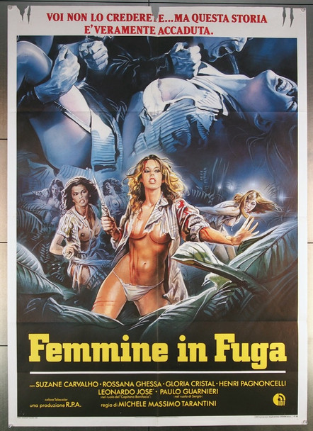 WOMEN IN FURY (1984) 27071 R.P.A Cinematografica Original Italian 39x55  Folded  Very Good Plus to Fine Condition