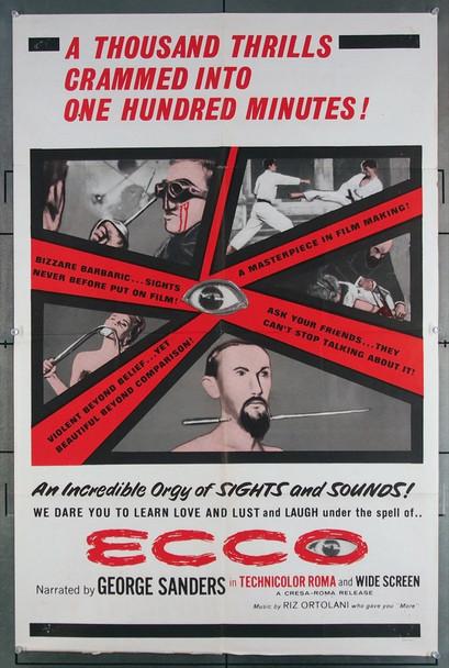 ECCO (1963) 10620 Julia Films Original U.S. One-Sheet Poster (27x41) Folded