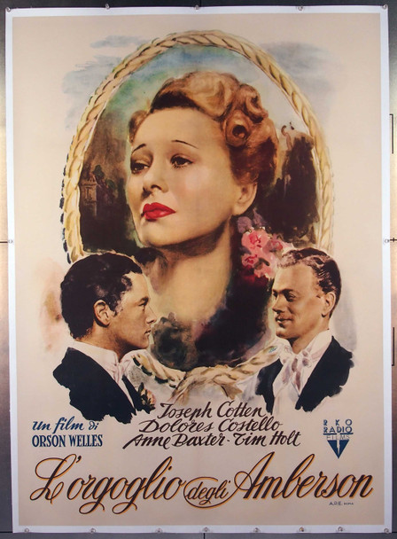 MAGNIFICENT AMBERSONS, THE (1942) 27509 Original RKO Radio Pictures Italian 39x55  Two Foglio Poster  Linen Backed  Fine Plus Condition