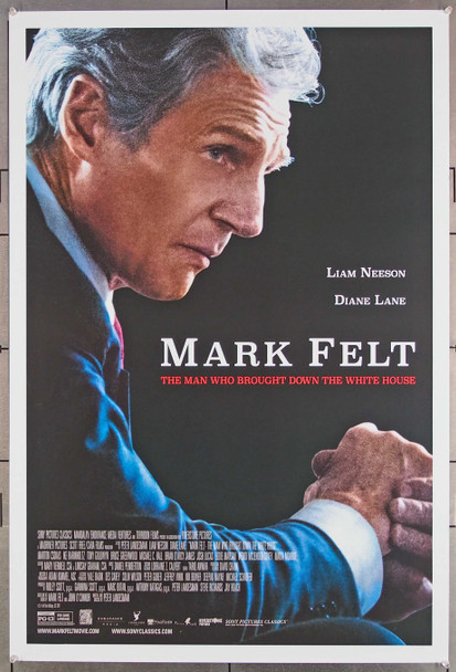 MARK FELT: THE MAN WHO BROUGHT DOWN THE WHITE HOUSE   (2017) 27654 Creative Artists Agency U.S. One-Sheet Poster (27x40)single-sided Rolled  Very Fine