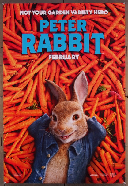 PETER RABBIT (2018) 27657 U.S. Teaser or Advance One-Sheet Poster  (27x40)  Rolled  Very Fine Condition