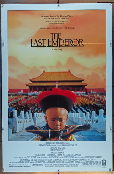 LAST EMPEROR, THE (1987) 19501 Columbia Pictures Original U.S. One-Sheet Poster (27x41) Folded  Fine Plus Condition