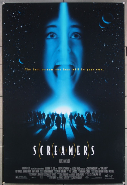 SCREAMERS (1995) 26428 Original Sony Pictures One Sheet Poster (27x41).  Folded.  Double-Sided.  Fine Plus Condition