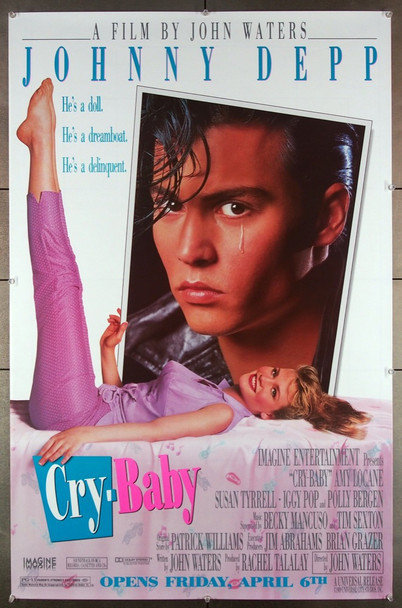 CRY-BABY (1989) 15352 Universal PIctures Original U.S. 30x45.5  Poster  Teaser or Advance Style  Rolled  Very Fine Condition