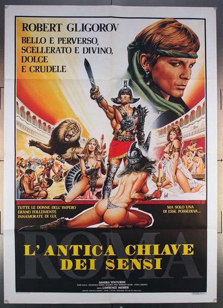 ROMA. L'ANTICA CHIAVE DEI SENSI (1984) 27576 Cinefear Original Italian 39x55  Folded  Very Fine Condition