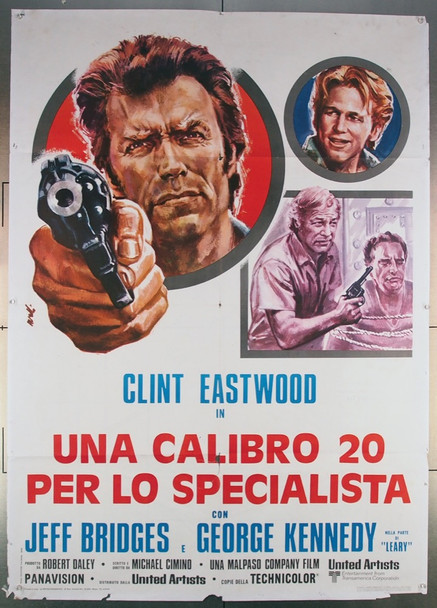 THUNDERBOLT AND LIGHTFOOT (1974) 27580 United Artists Original Italian Two-Foglio Poster   39x55  Folded  Good Condition