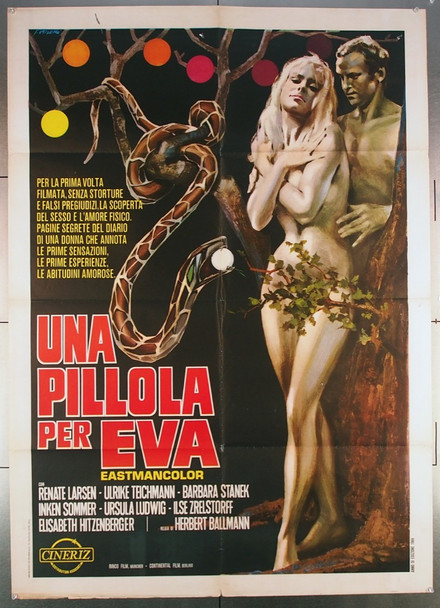 EVA (1968) 27569 Original Italian 39x55 Poster  Folded  Fine Plus Condition